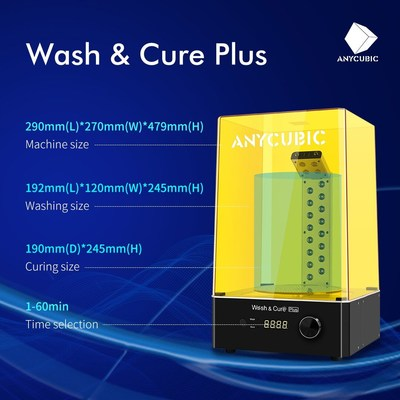 Anycubic's Wash & Cure Plus with multiple improvements