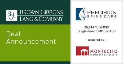 BGL Announces the Sale of the Real Estate Portfolio of Precision Spine Care