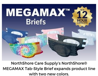 NorthShore Care Supply's NorthShore? MEGAMAX Tab-Style Brief expands product line with two new colors.