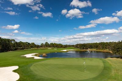 The scenic Tom Fazio 18-hole golf course at Four Seasons Golf & Sports Club Orlando is a certified Audubon wildlife sanctuary.