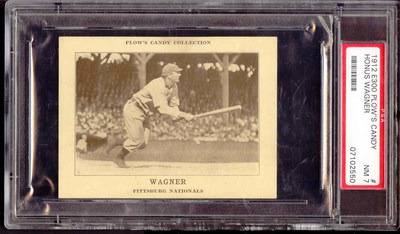 "Honus Wagner from the 1912 Plow's Candy Baseball Cards Set (E300). This ONE and ONLY card takes rarity to the limit and is rated by PSA as a 7 in ""near mint"" condition."