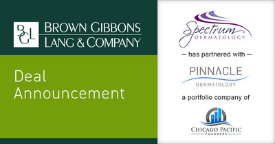 Brown Gibbons Lang & Company (BGL) is pleased to announce a new partnership between Spectrum Dermatology (Spectrum) and Pinnacle Dermatology (Pinnacle). The partnership with Spectrum is another step in Pinnacle's strategy to build a strong dermatology practice platform operating in multiple geographic markets coast-to-coast. BGL's Healthcare & Life Sciences team served as the exclusive financial advisor to Spectrum in the transaction.