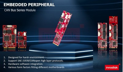 Innodisk Releases CAN Bus Modules for Unmanned Smart Systems