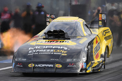 Matt Hagan's Dodge Charger SRT Hellcat sports a new look for the Mopar Express Lane NHRA SpringNationals Presented by Pennzoil at Houston