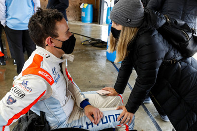 Robert and Karli Wickens right before the track session.