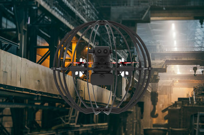 """""""Skypersonic Skycopter inspecting an Automotive Plant Production Line"""""""