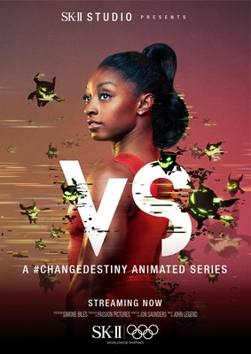 World's most decorated gymnast Simone Biles in SK-II STUDIO's 'VS' Series