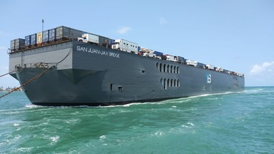 Trailer Bridge provides ocean transport between the U.S. and the Caribbean with its fleet of ocean-going deck barges.