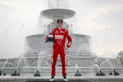 Honda's Marcus Ericsson scored his career first IndyCar victory today at the Detroit Grand Prix. It is the fifth IndyCar win in seven races this season for Honda.