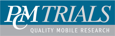 Logo for PCM Trials, an independent provider of mobile research headquartered in Denver, Colorado, with European operations based out of the UK.