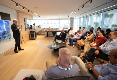 Avi Hasson, incoming CEO of Start-Up Nation Central, welcomes the Delegation. Credit - Liron Cohen Aviv