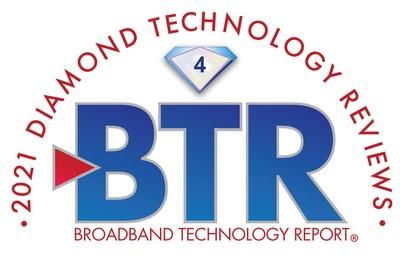 Broadband Technology Report's 2021 Diamond Technology Reviews Awards ProLabs a 4 Diamond Award